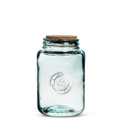 Medium Crest Jar w/Lid