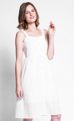 Pink Martini ~ The Jourdan Dress - White