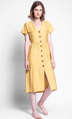 Pink Martini ~ The Darian Dress - Yellow
