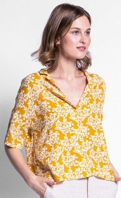 Pink Martini ~ The Florence Top - Yellow