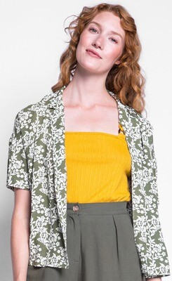 Pink Martini ~ The Florence Top - Green