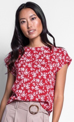 Pink Martini ~ The Imogen Top - Red