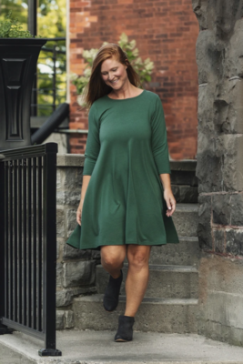 Blondie ~ Riverbend Tunic with 3/4 Sleeve - Green
