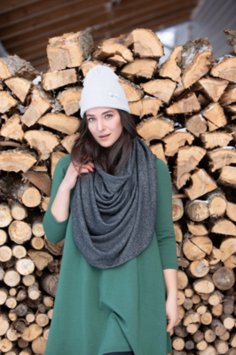 Blondie ~ Classic Winter Poncho in Charcoal
