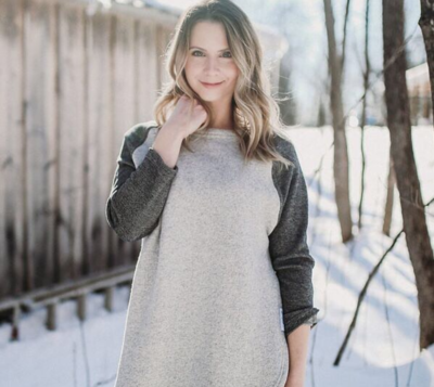 Blondie ~ East End Sweater - Two-Toned Grey
