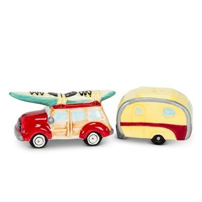 Woody Car & Camper Salt & Pepper