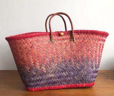 Madagascar Basket - Red & Purple