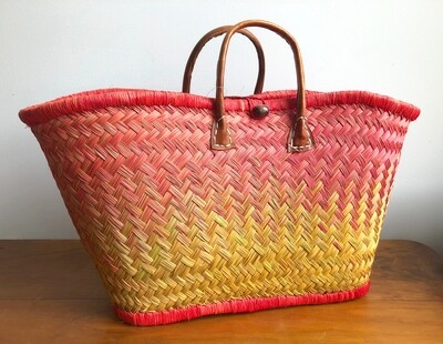 Madagascar basket - Orange & Yellow