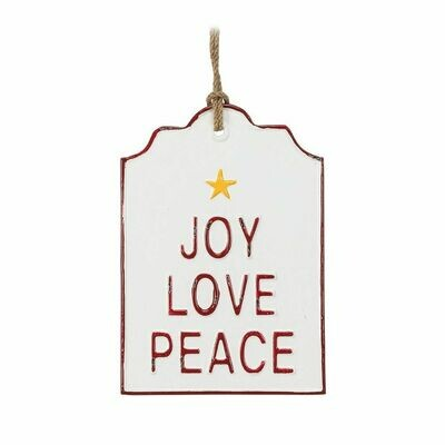 Joy Love Peace Sign