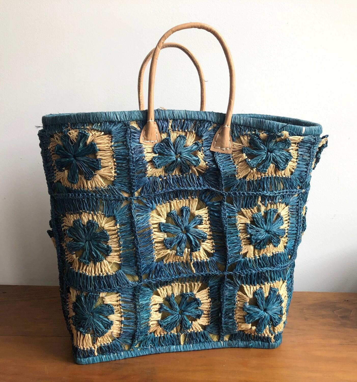 Madagascar Basket - Blue Crochet