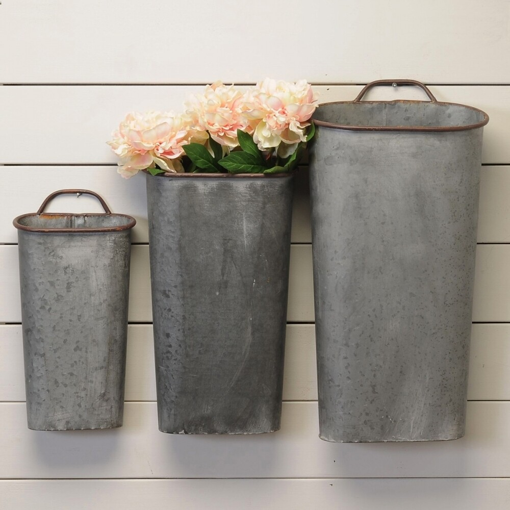 GALV WALL VASES