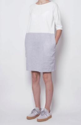 PAN ~ White + Grey Dress