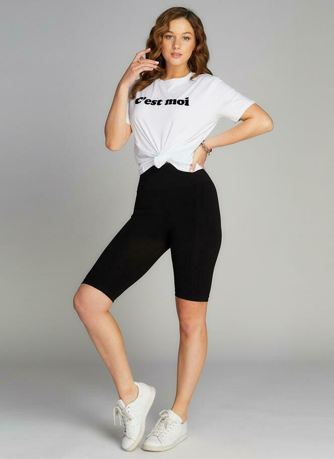 C'est Moi High Waisted Long Shorts O/S