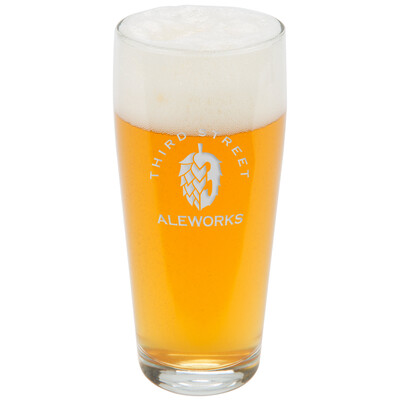 HOP3 Deep Etch Pint Glass