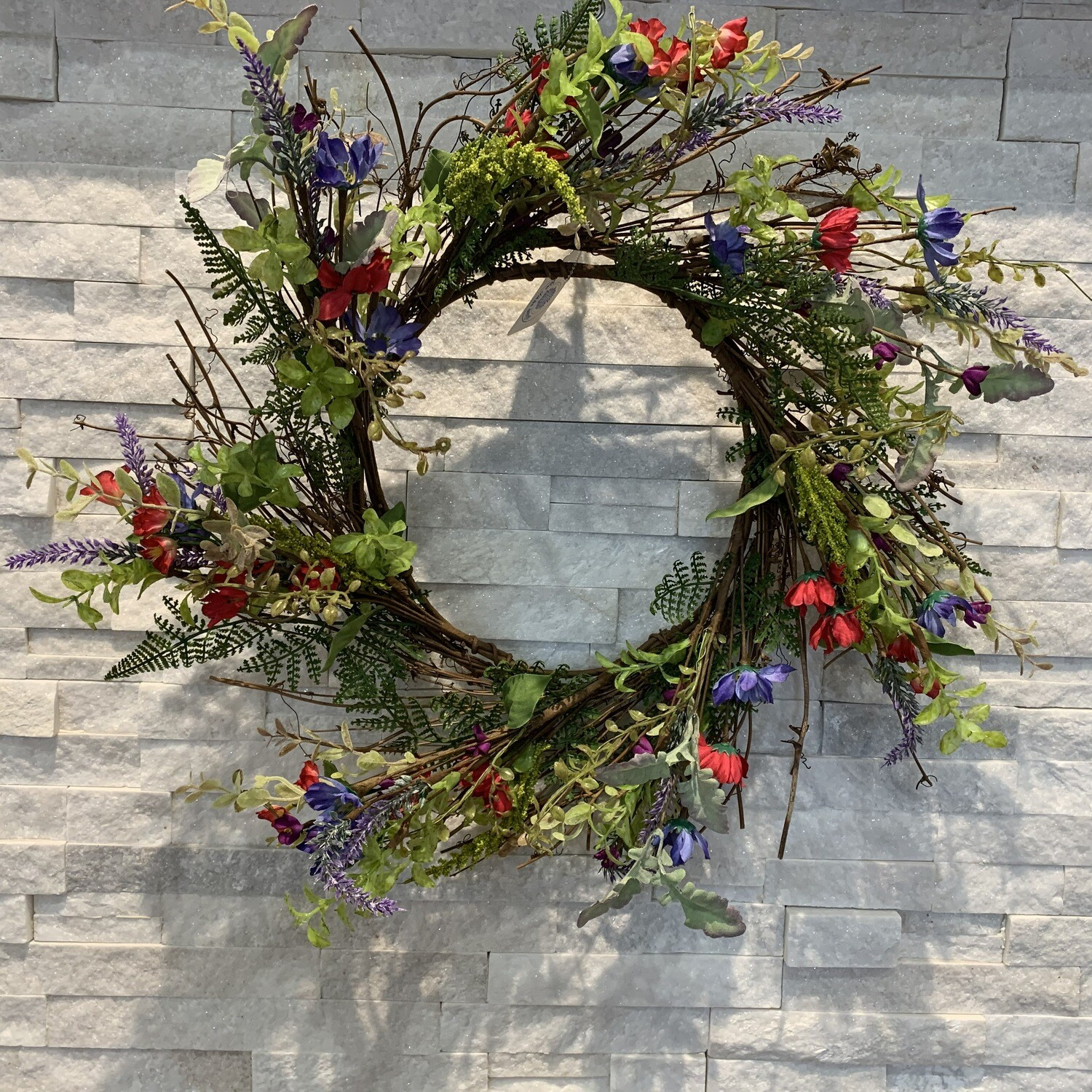 """Country Flower & Lavender Wreath 24"""""""