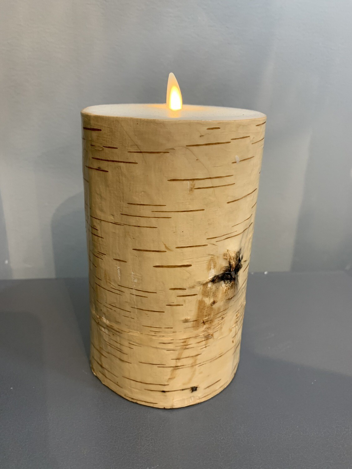4x7 Birch Wrapped Pillar Candle