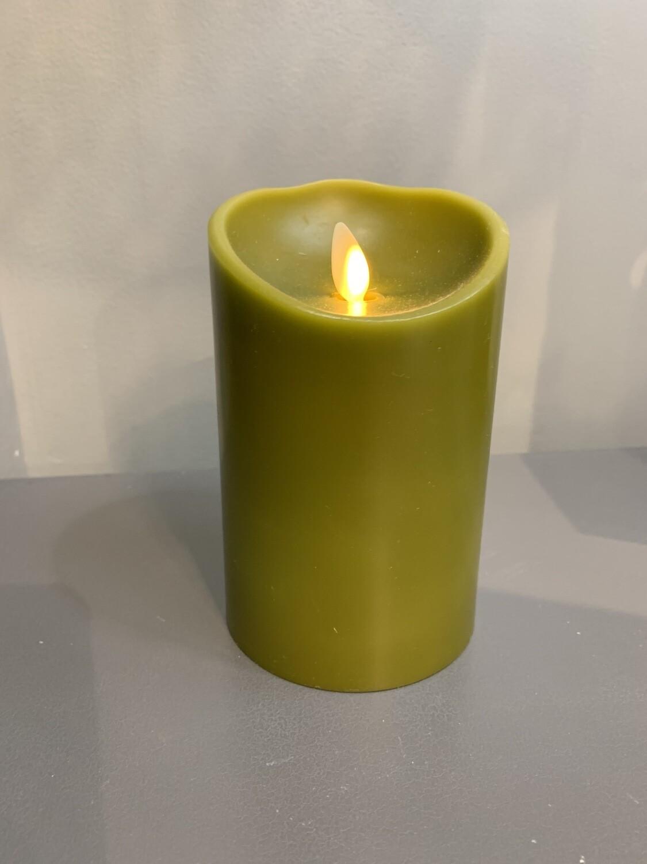 "3.5""x5"" Sage Pillar Candle"