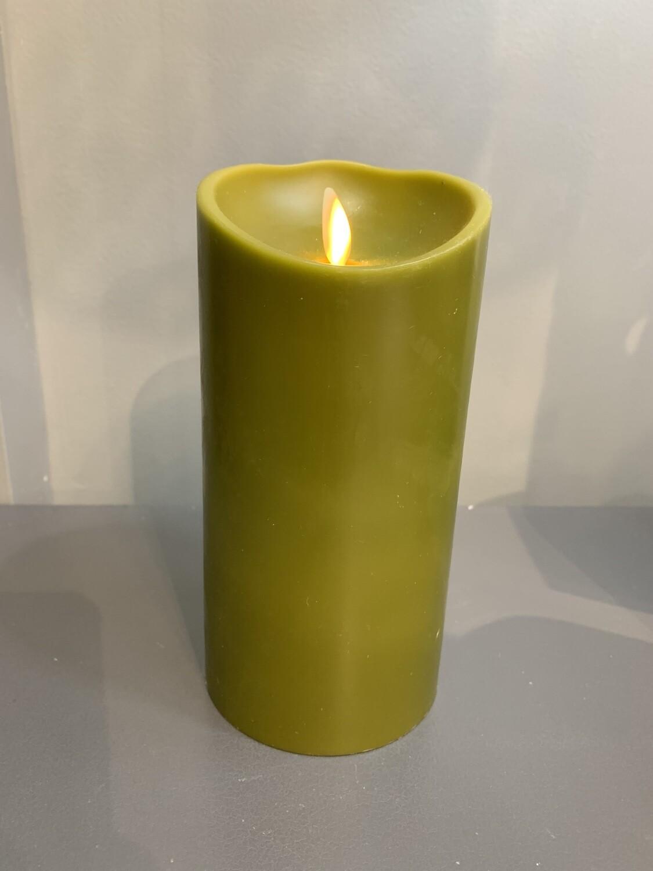 "3.5""x7"" Sage Pillar Candle"
