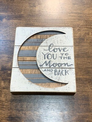 Moon and Back Slat Sign