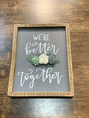 Together Inset Box Sign