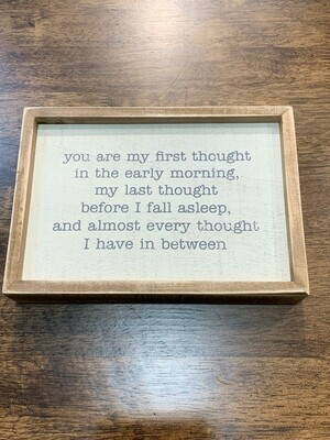 First Thought Inset Box Sign