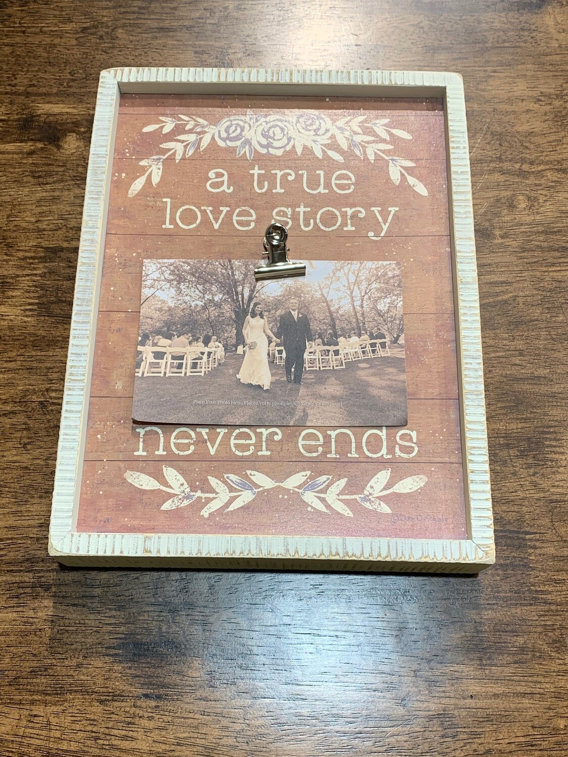 Love Story Inset Box Frame