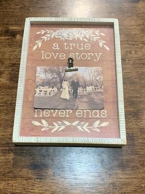 Love Story Inset Box Frame