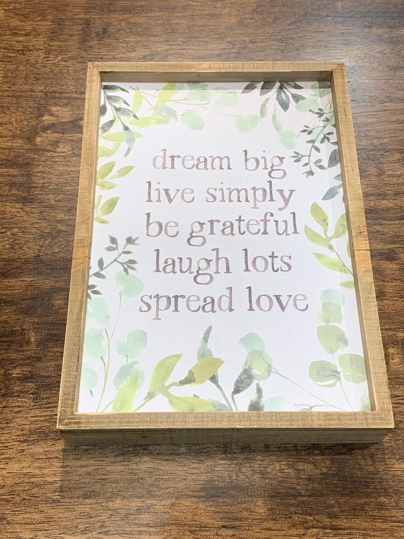Dream Big Box Sign