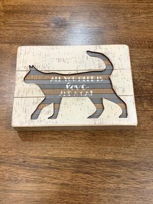 Cat Slat Box Sign