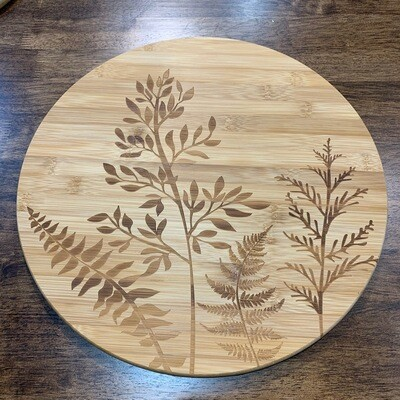 Leaves Bamboo Serving Board