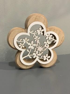 Flower Cut Out Shelf Sitter