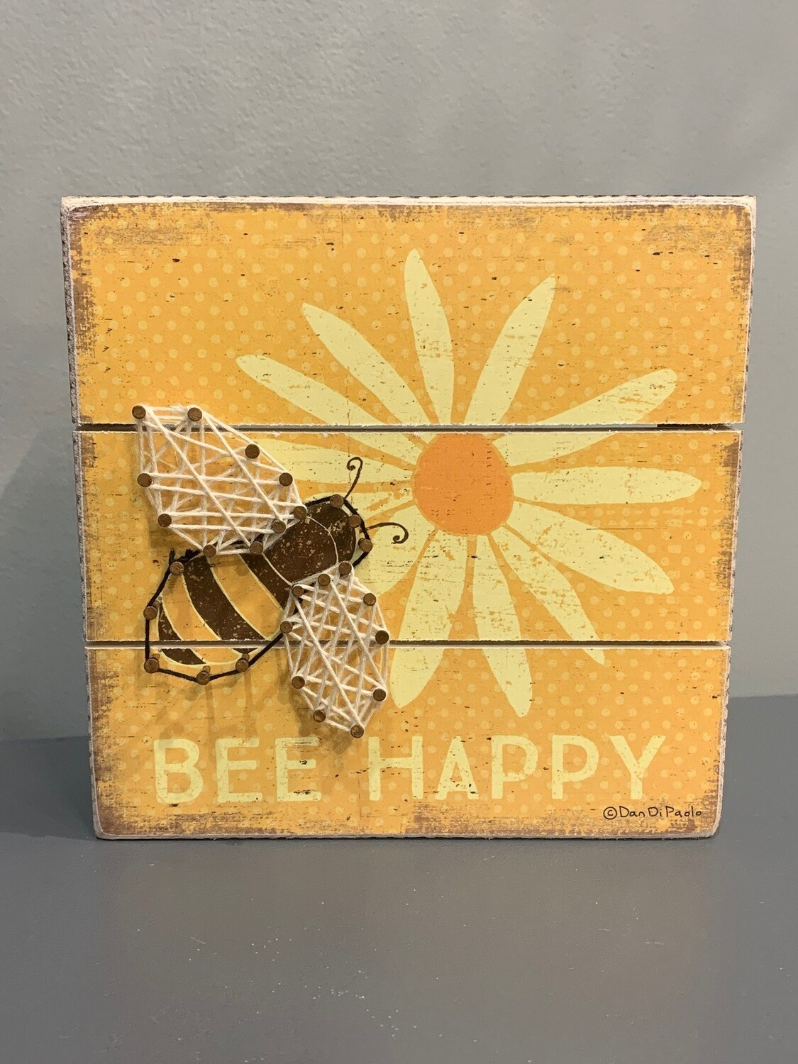 Bee Happy Slat String Art