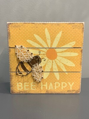 Bee Happy Slat String Art