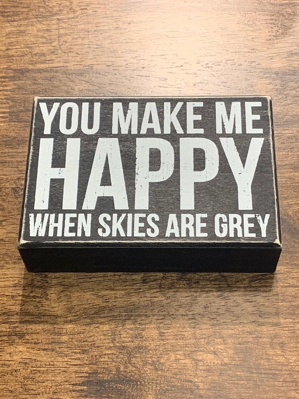 Happy Box Sign