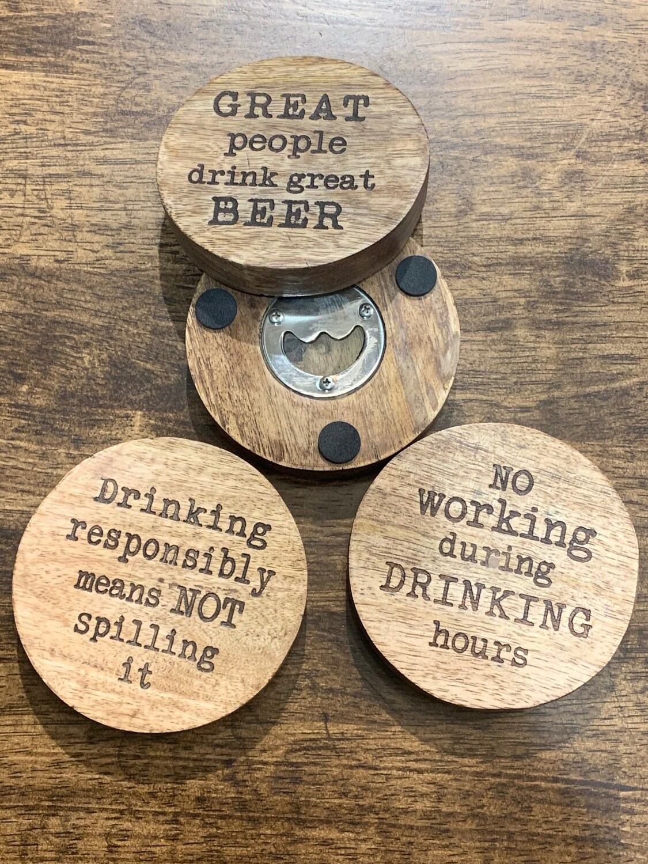 Beer Opener Coaster