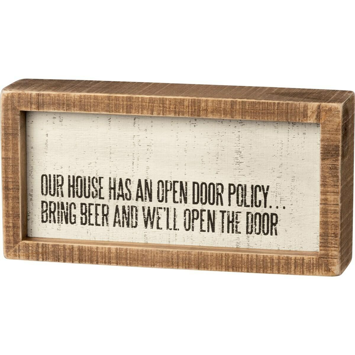 Open Door Box Sign