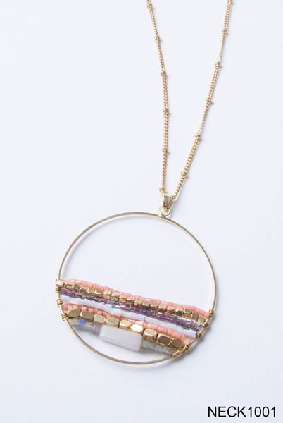 Around the World Circle Necklace