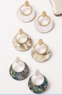 Nautical Shell Earrings
