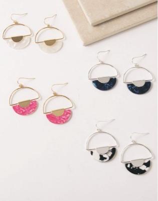 Bandana Babe Circle Earrings