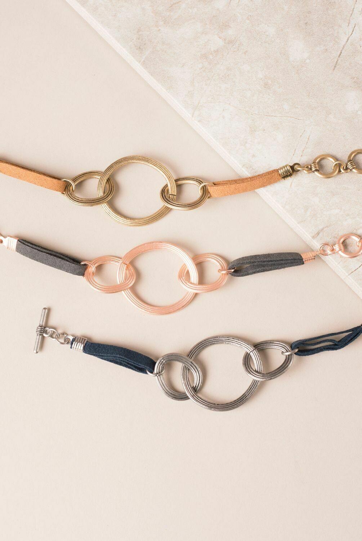 The Nile Faux Suede Circle Bracelet
