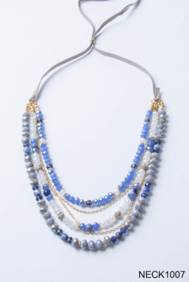 Cloud Nine Faux Suede Slider Necklace