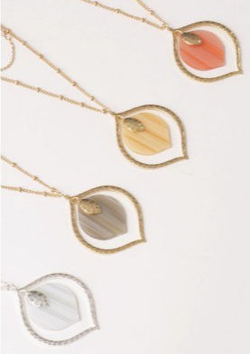 PD Layered Leaf Necklace