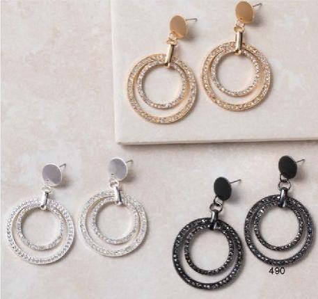UC Tiered Circle Earrings