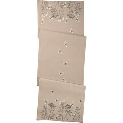 Bees Embroidered Table Runner