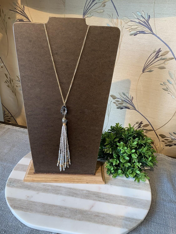 Set in Stone Tassel Necklace