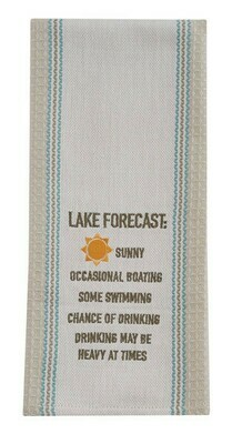 Lake Forecast Embroidered Dish Towel