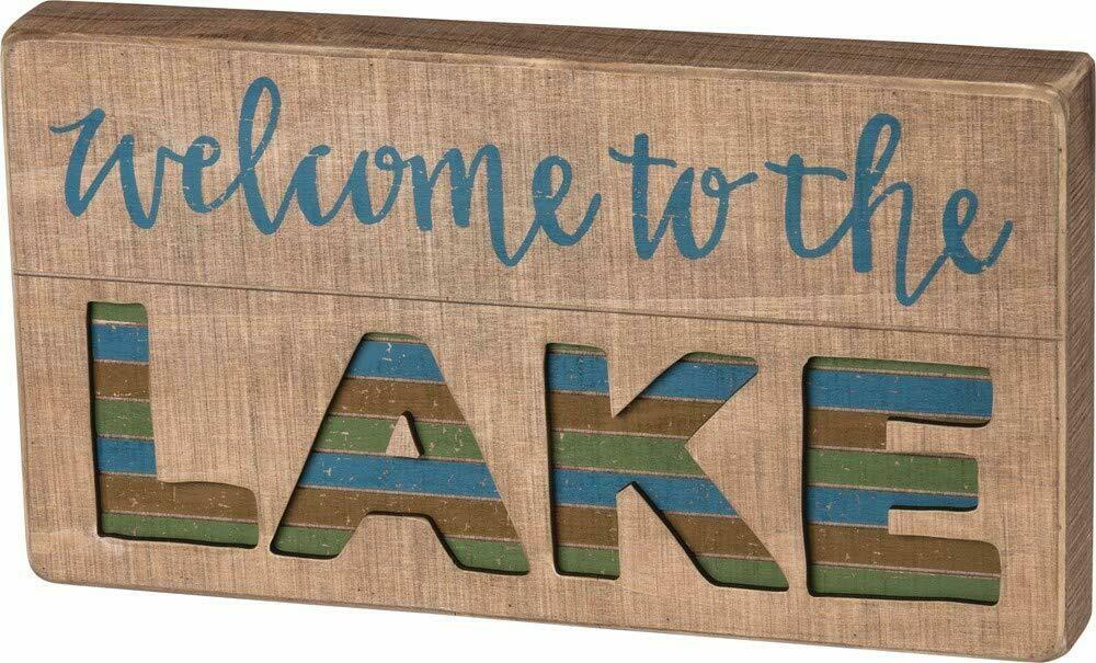 The Lake Slat Box Sign