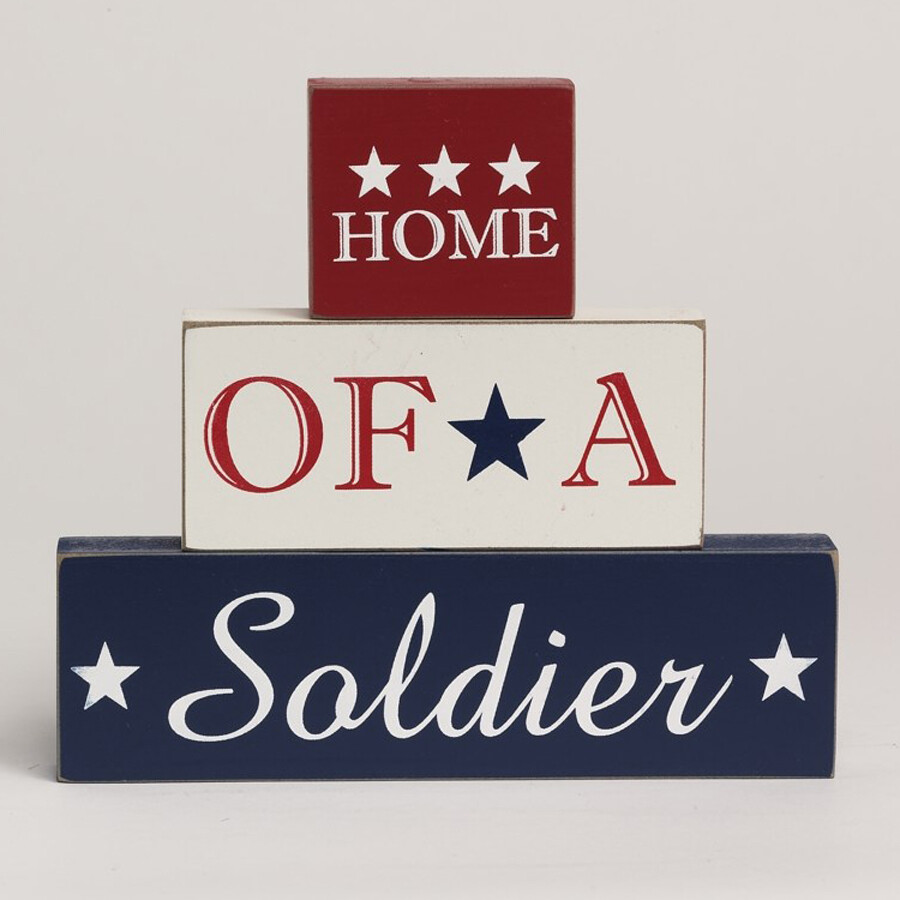 Home of a Soldier 3 Brick Set