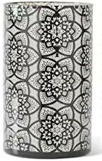 Black Lace Flower Candle Holder Lg