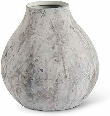 Gray Metal Vase w/Acid Finish Sm.